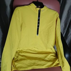 Nike men's XL windbreaker yellow